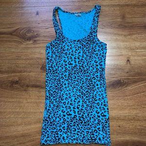 Victoria's Secret PINK Blue Cheetah Tank M